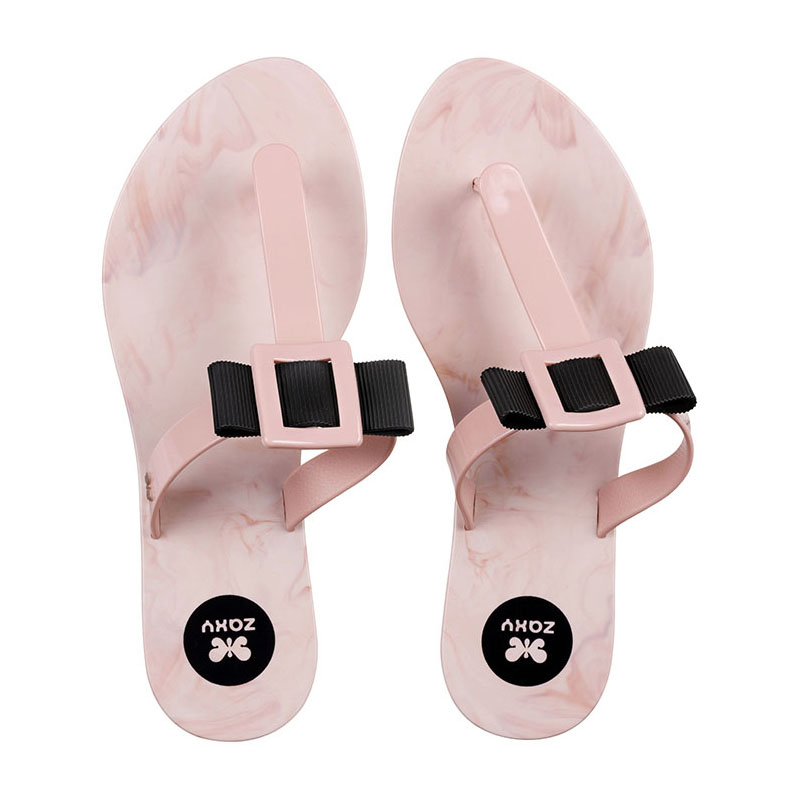 CHINELO FEMININO ZAXY FLUFFY CHIN AD NUDE SPLASH - 17168