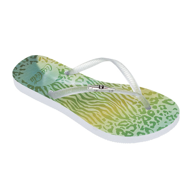 CHINELO FEMININO COCA COLA JUNGLE COLOR BRANCO/CRISTAL - CC2248