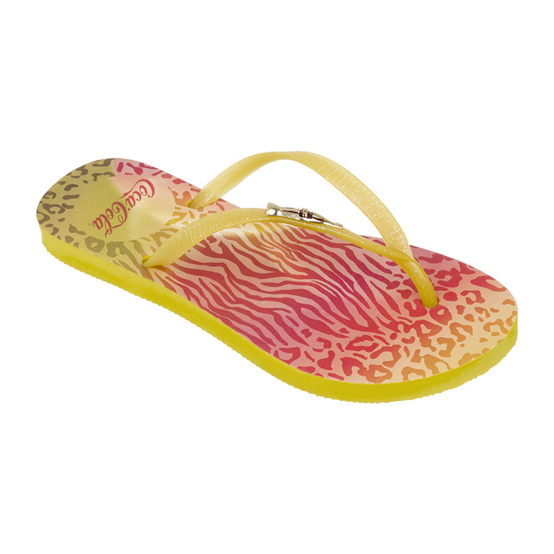 Chinelo Coca-Cola Jungle Color Amarelo/Amarelo