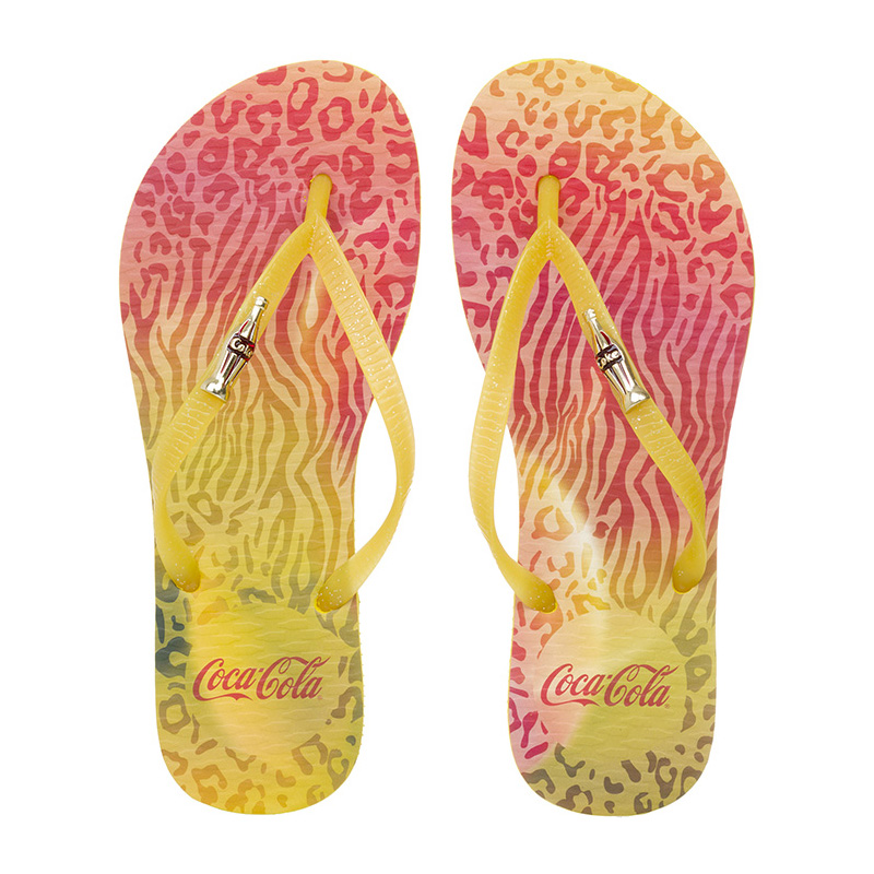 CHINELO FEMININO COCA COLA JUNGLE COLOR AMARELO/AMARELO - CC2248