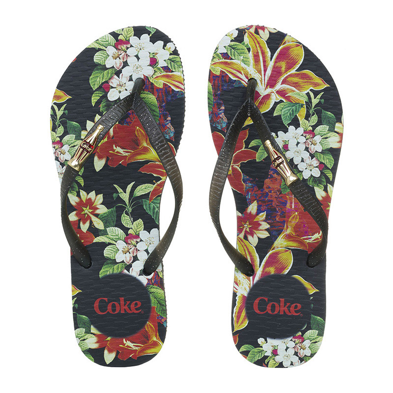 Chinelo Coca-Cola Queen Preto/Preto