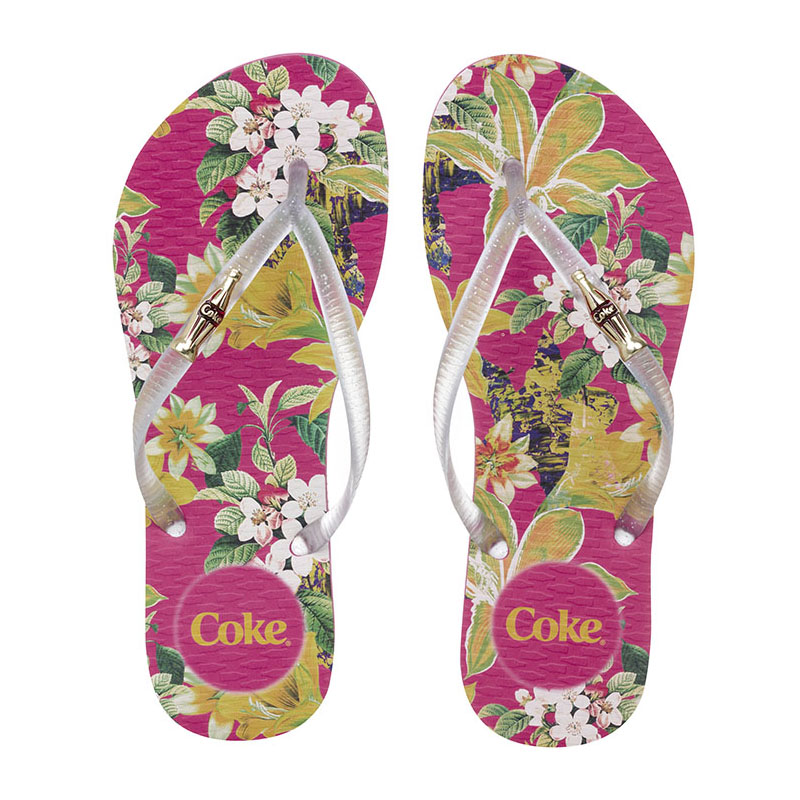 Chinelo Coca-Cola Queen Pink/Cristal