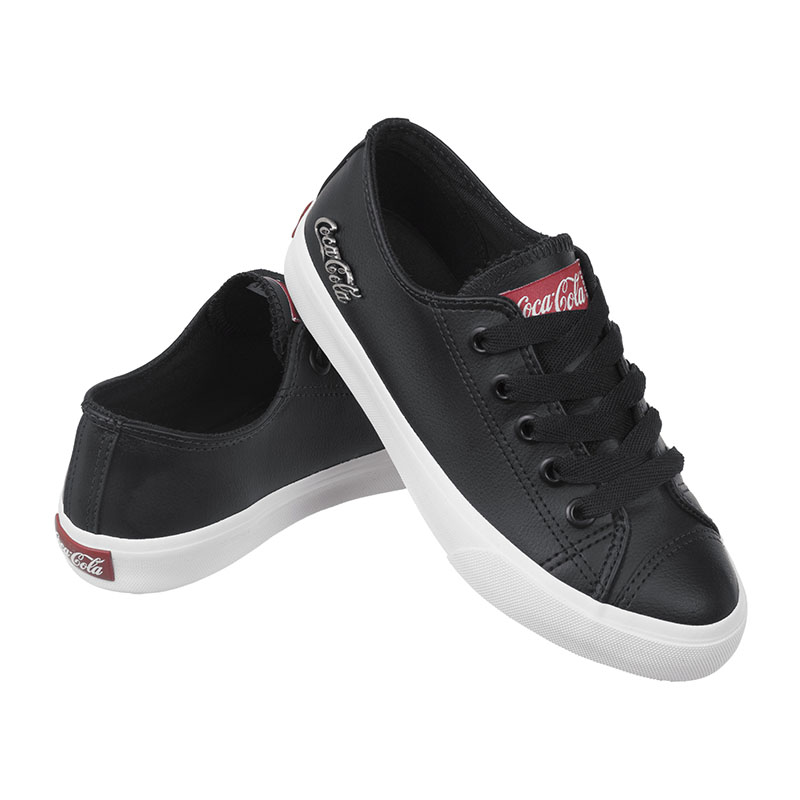 Tênis Coca-Cola Basket Floater Low Preto