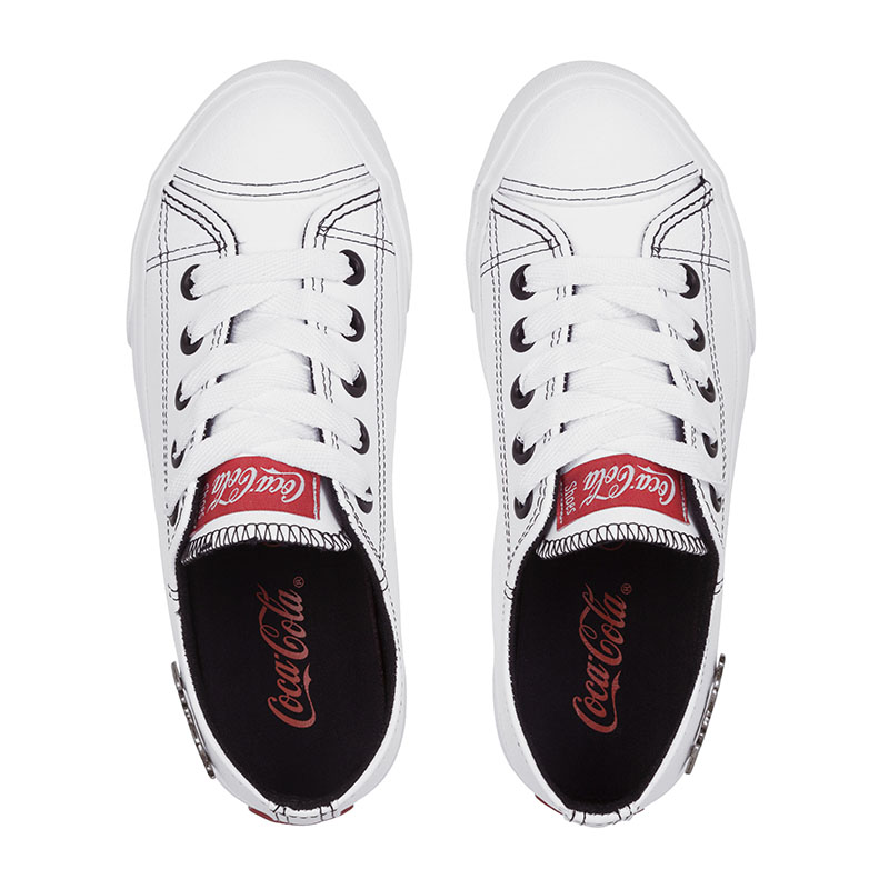 Tênis Coca-Cola Basket Floater Low Branco