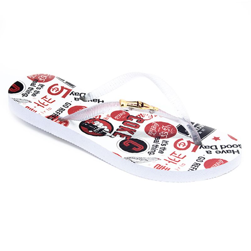 Chinelo Coca-Cola Icons Branco Cristal