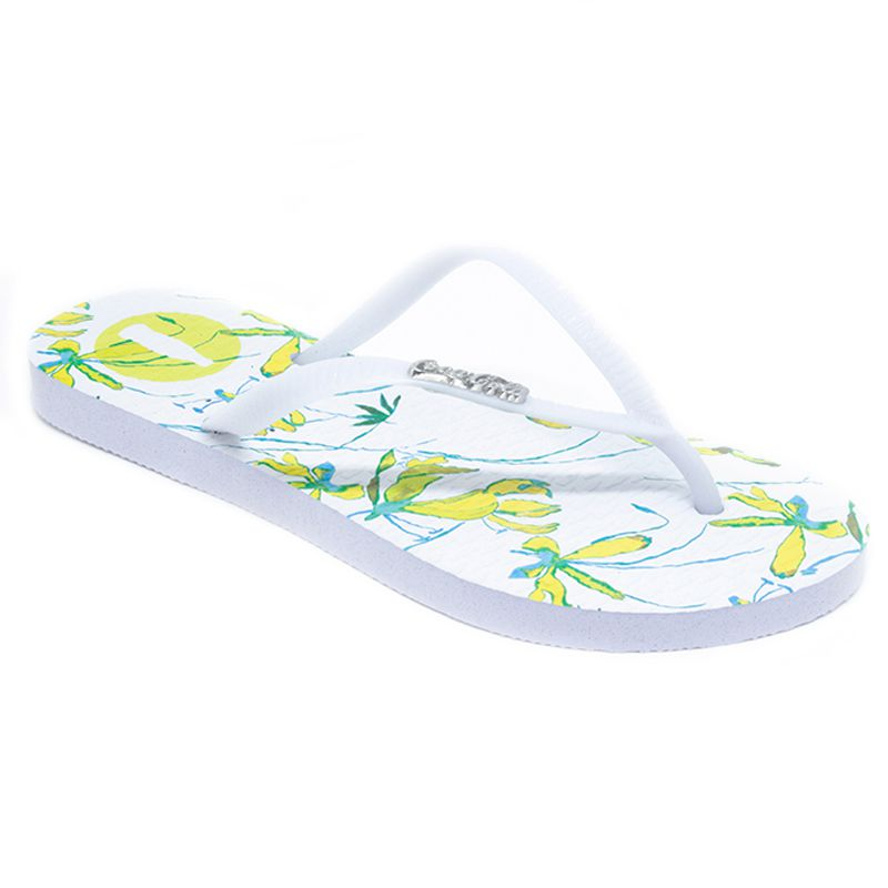 Chinelo Coca-Cola Lilly Branco Branco