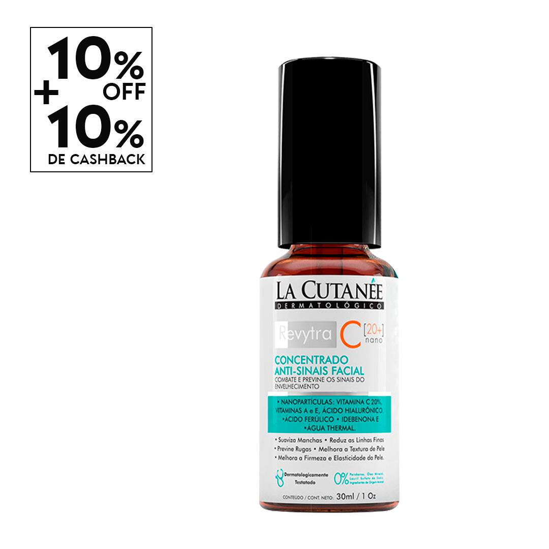 REVYTRA C [ 20+] - VITAMINA C 20%  [Nano] Rejuvenecedor e clareador Facial - Vitamina C para o rosto