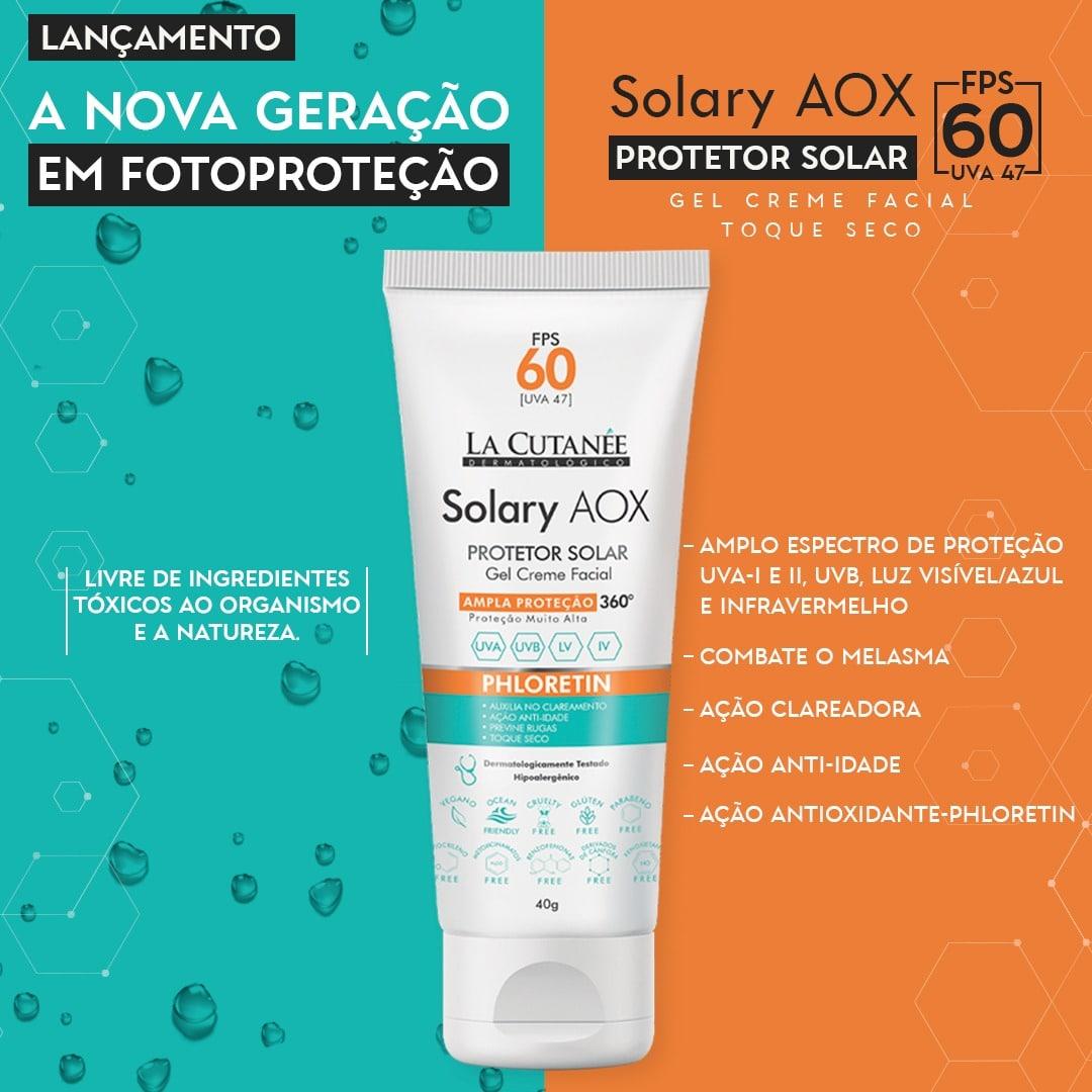 SOLARY AOX  FPS 60- PROTETOR SOLAR FACIAL- S/COR