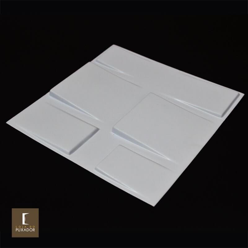 Revestimento 3D De Parede PSAI Poliestireno Alto Impacto 50 x 50 Modelo  Altis Branco  - Revestimento 3D
