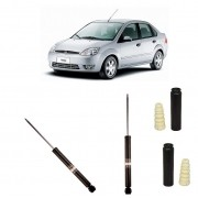 Amortecedor Traseiro Fiesta Hatch Sedan 03/...(Amort+Bat.+Coifa) - Par