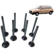 Válvulas Admissão / Escape (Jogo 8 peças) FIAT 1050 1300 Uno 1.0 1.3