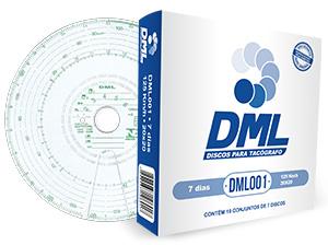 Disco Tacógrafo 7 Dias 125 KM (Kit com 05 Caixas) DML