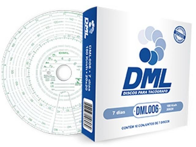 Disco Tacógrafo 7 Dias 180 KM (Kit com 05 Caixas) DML