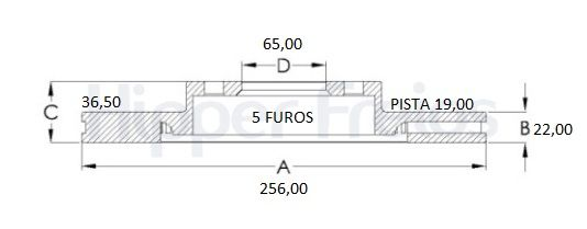 Disco Freio Dianteiro Ventilado Fox 03/.Cross Fox Space Fox(Aro 15)Par