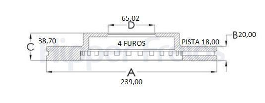 Disco Freio Dianteiro Ventilado Gol 1.0 1.8 2.0 G2 G3 G4 (Par)