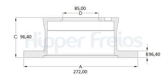 Disco Freio Traseiro Sprinter 313 413 02/06 C/5 furos (Par) - Sólido