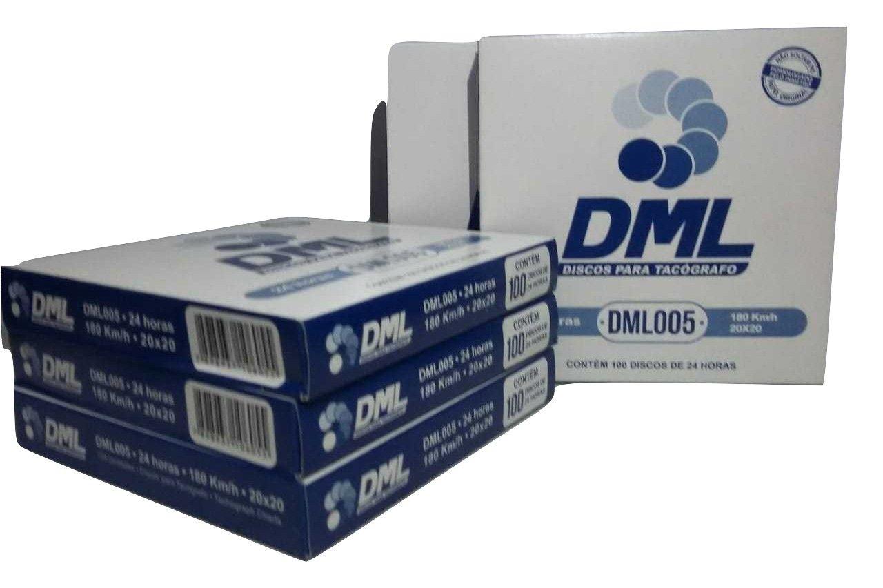 Disco Tacógrafo Diário 180 KM (Kit com 05 Caixas) DML