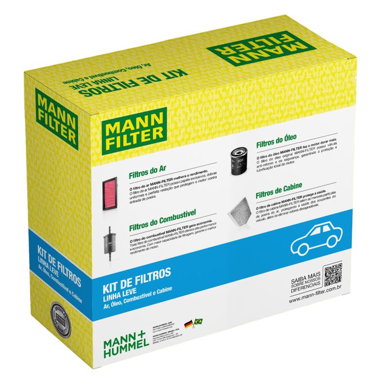 Kit Filtros Onix 1.0 1.4 2012/2019 Novo Prisma 1.0 1.4 2013/2019  MANN