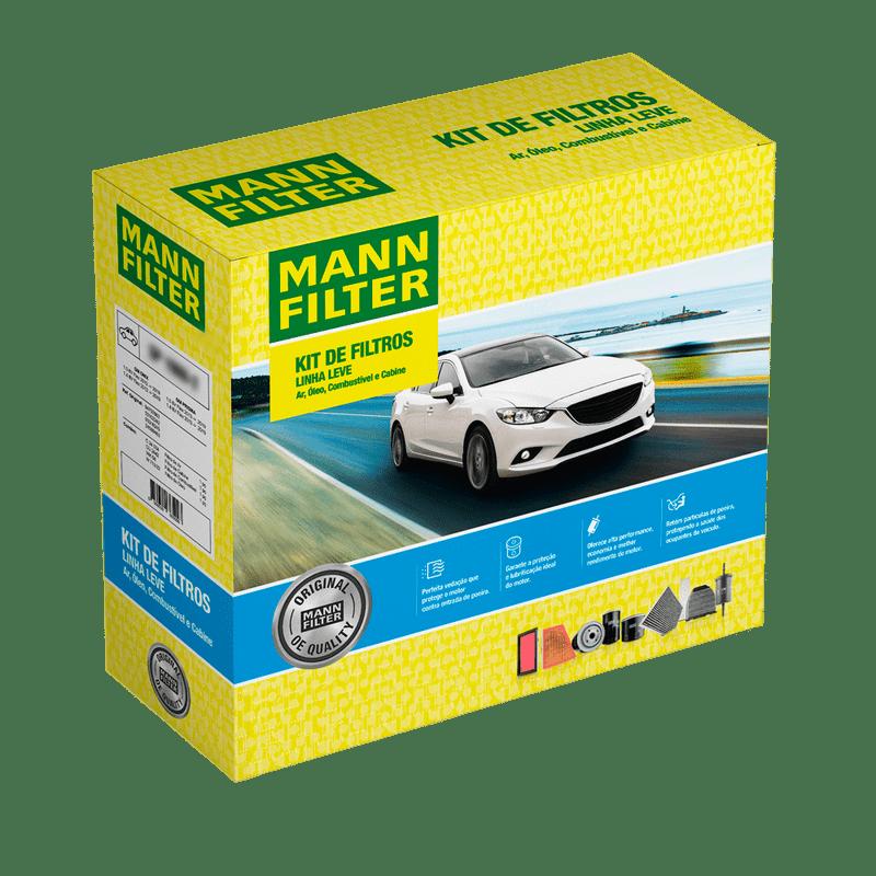 Kit Filtros Renault Kwid 1.0 12V SCe 2018/... MANN-FILTER