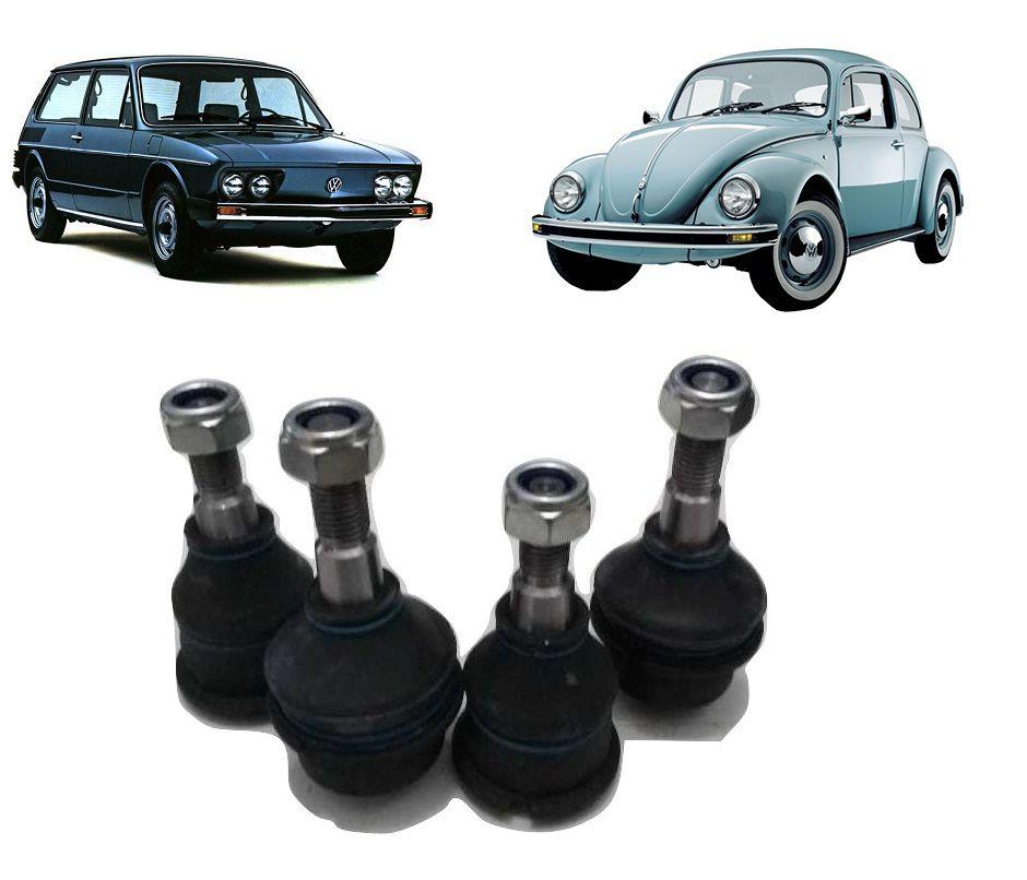 Pivô Suspensão Superior/Inferior VW Fusca Brasília Variant (KIT 4 PÇS)