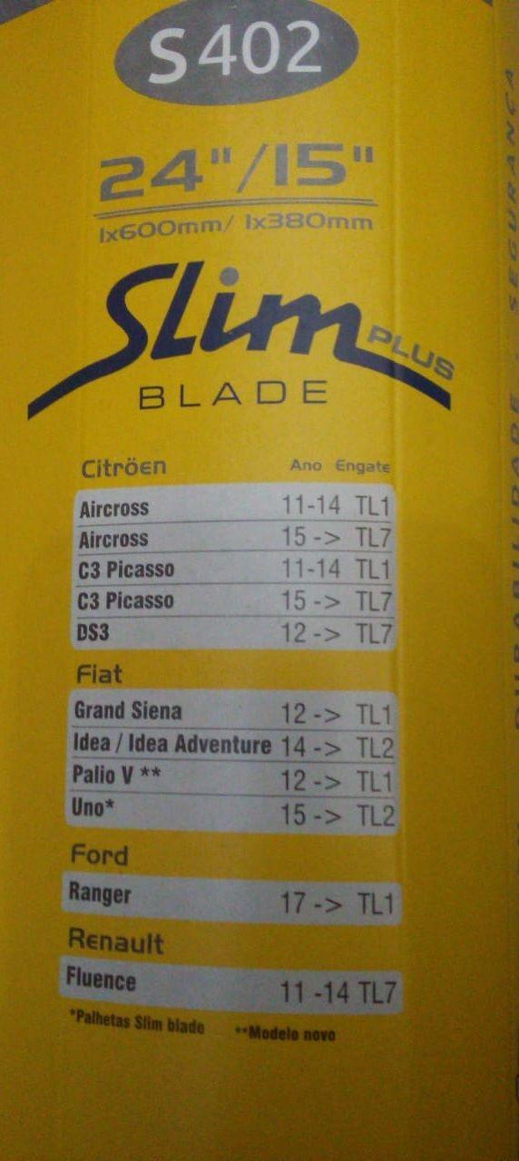Palheta Limpador Novo Palio 2012/... Grand Siena 2012/ C3 11/... (Par)