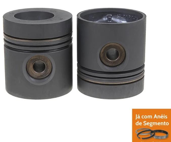 Pistão Motor Om-364/366 - P1475 Std - 0,9 - Com Anéis