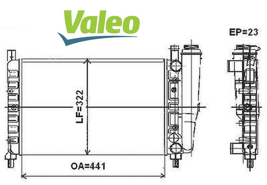 Radiador Uno 1.0 Fire 00/12 Fiorino 1.0 1.3 8V Fire 01/12
