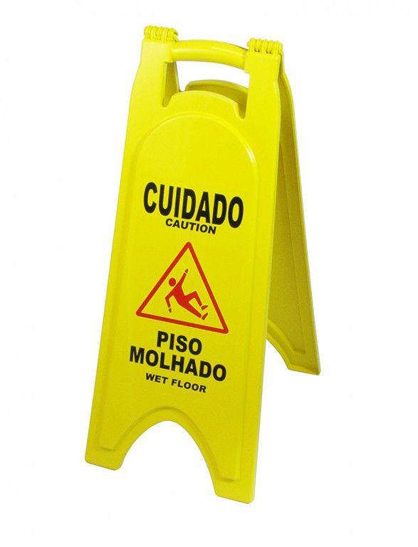 Placa De Sinalização Piso Molhado P5