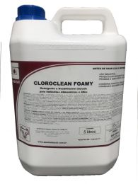 Detergente e Desengordurante Clorado Cloroclean Foamy 5L Spartan