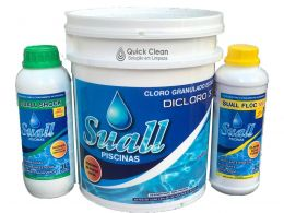 Kit Cloro, Algicida de Shock e Clarificante Líquido