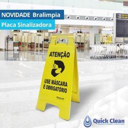 Placa Sinalizadora Atnção Use Máscara Bralimpia