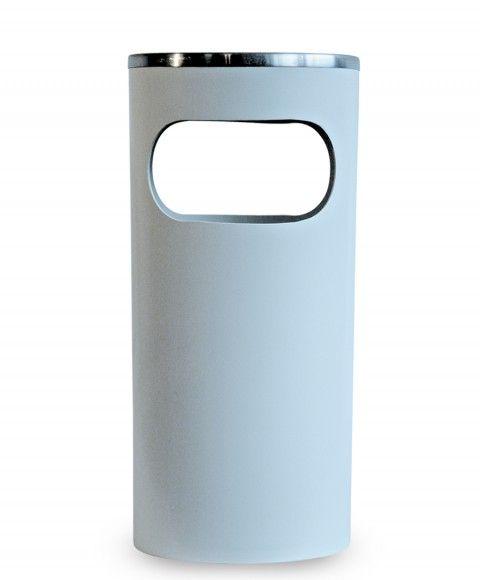 Cinzeiro Lixeira em Plastico com Aro em Aluminio
