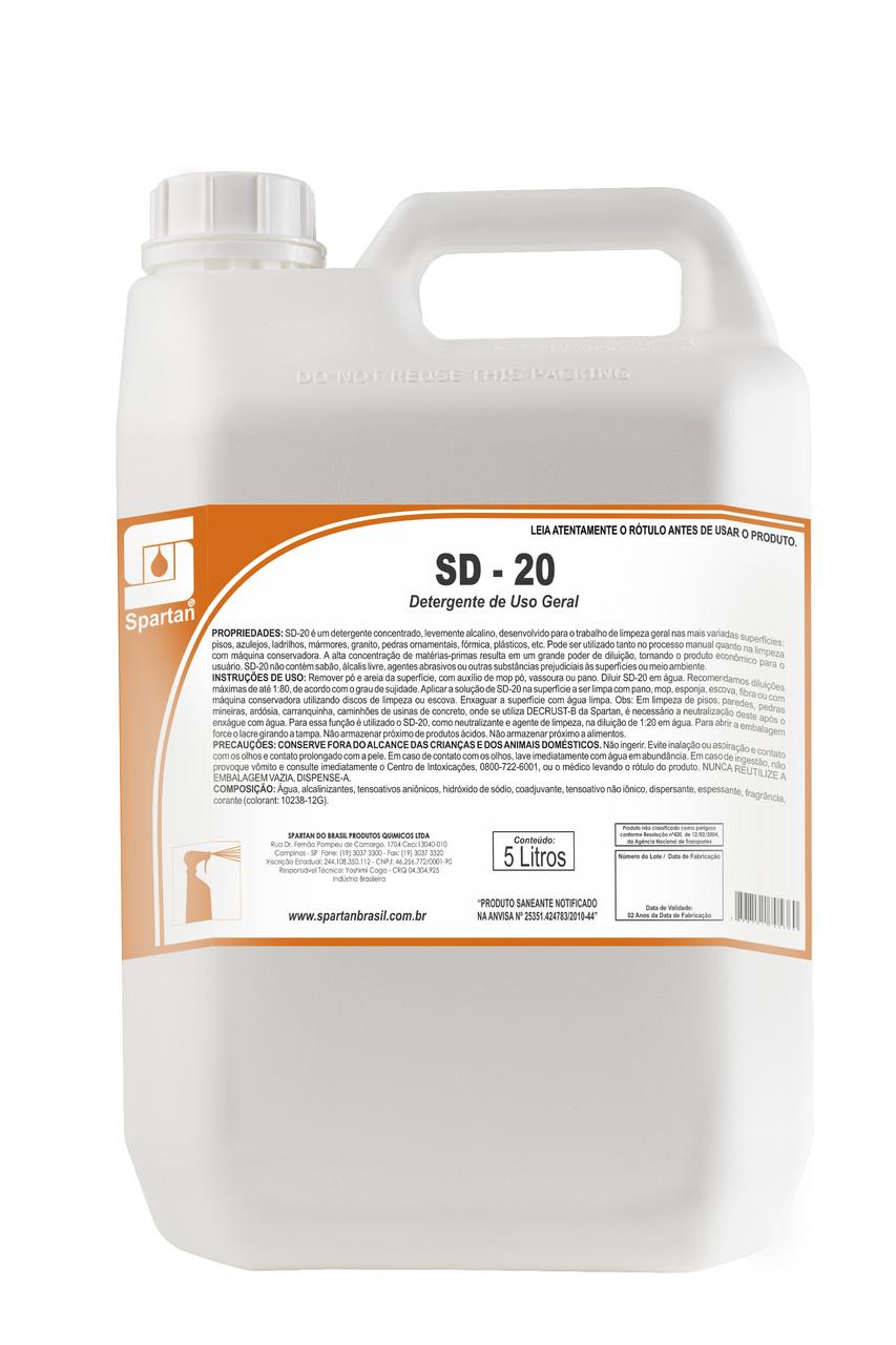 Detergente de Uso Geral SD 20 5L Spartan
