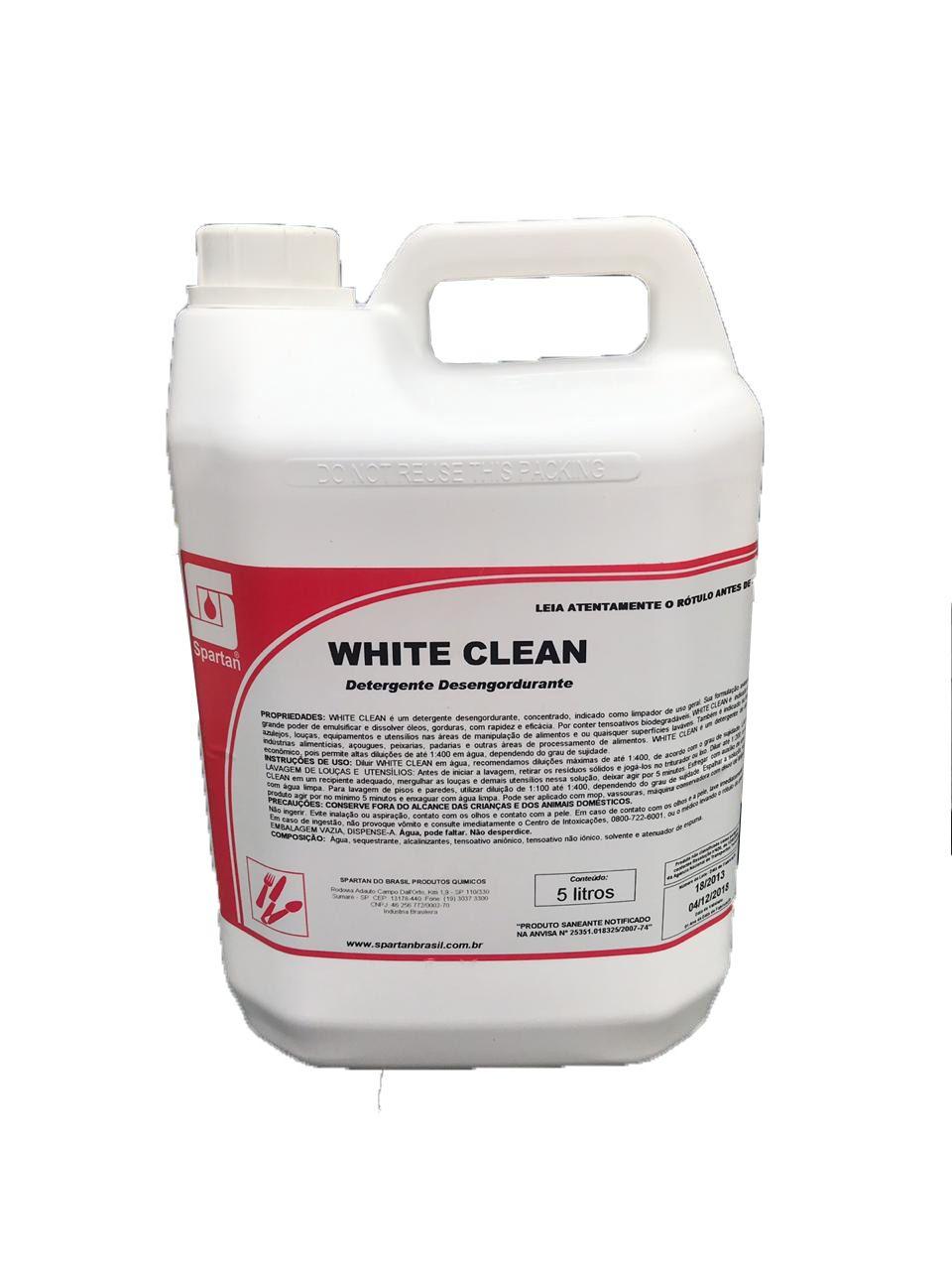 Detergente Desengordurante White Clean 5L Spartan