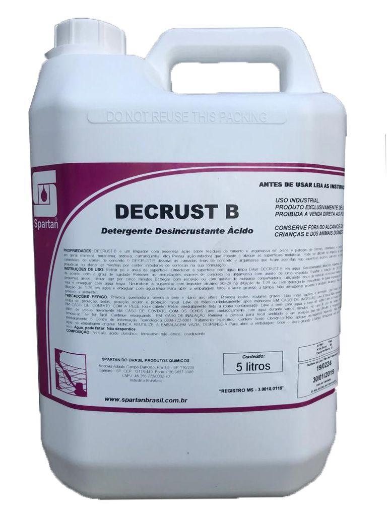 Detergente Desincrustante Ácido Decrust B 5L Spartan