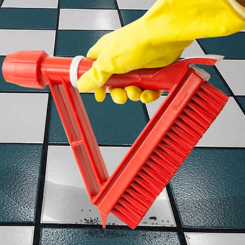 Escova Para Limpeza de Rejunte Vermelha Bralimpia