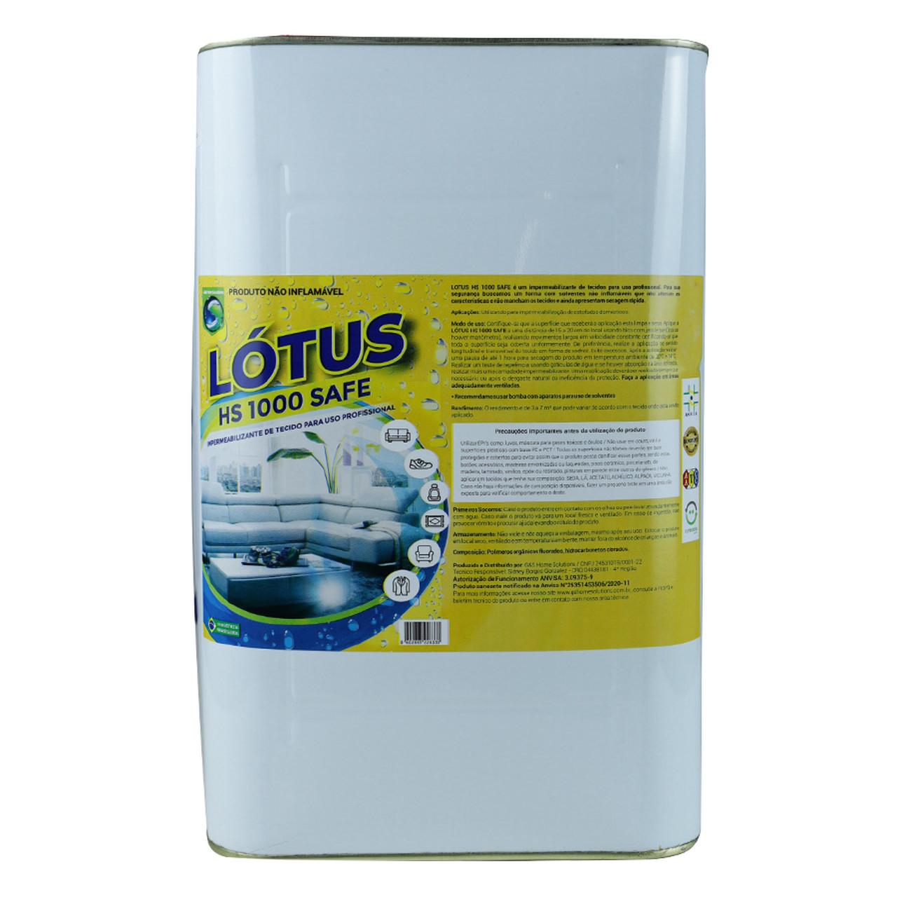 Impermeabilizante Tecido Sofa e Estofados Lotus HS Safe 5Lts