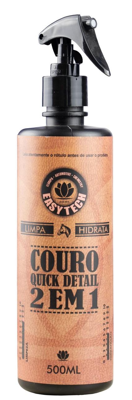 Limpa e Hidrata Couro 2x1 Quick Detail 500 ml Easytech