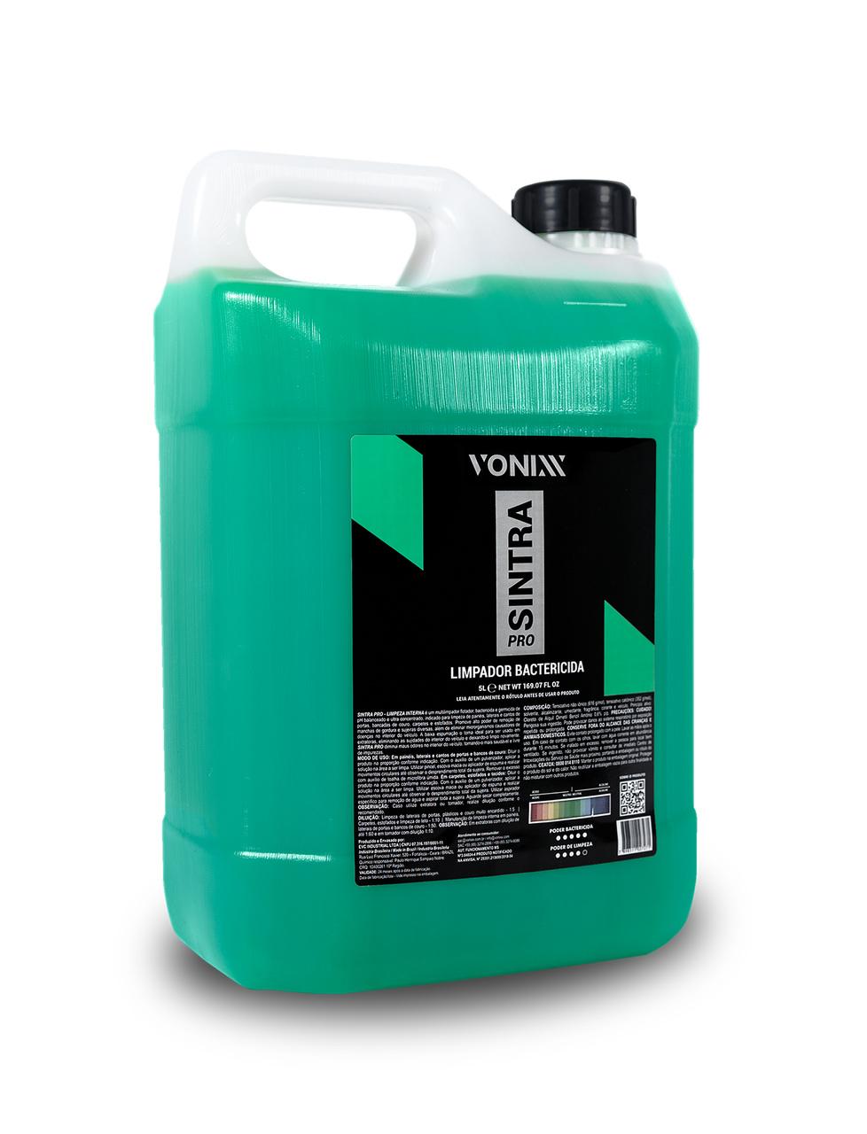 Limpador Bactericida Para Limpeza Interna de Veículos Sintra Pro 5L Vonixx