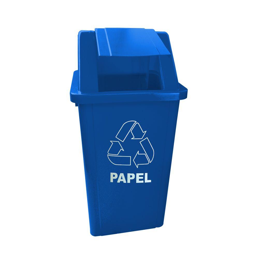 Lixeira plastica Tampa Basculante 100 Litros com Adesivo Bralimpia