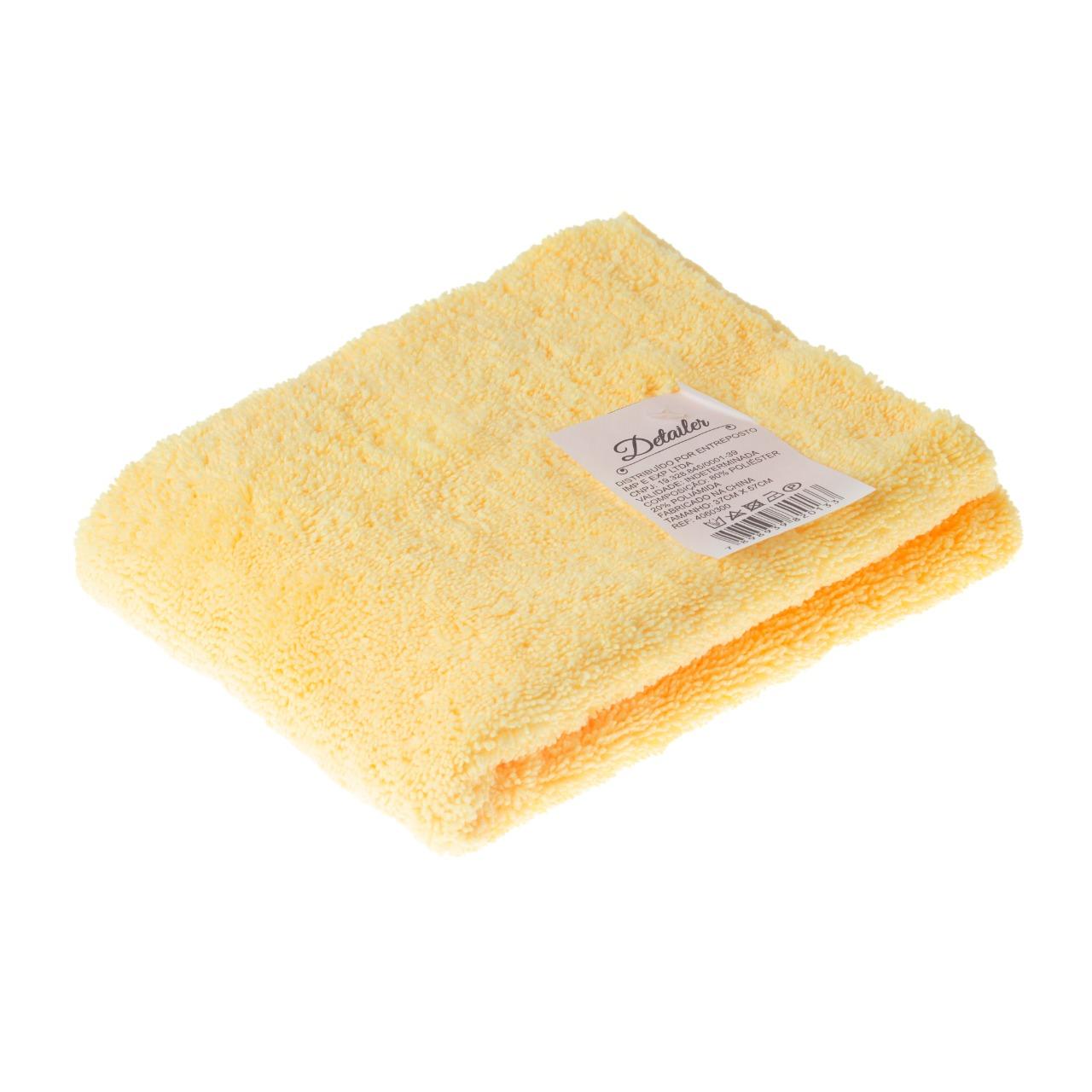 Pano de Microfibra 37x57 330g Amarelo Detailer