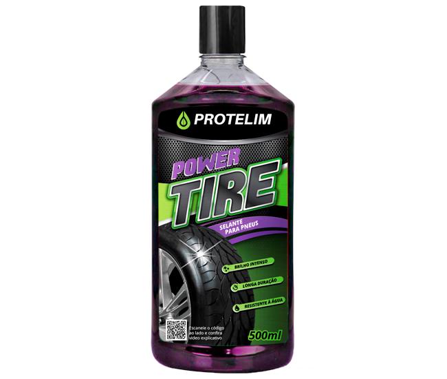 Pretinho Para Pneus Power Tire 500ml Protelim