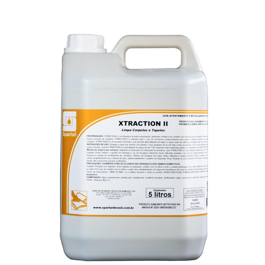 Xtraction II Shampoo Limpador de Carpetes e Estofados 5L Spartan