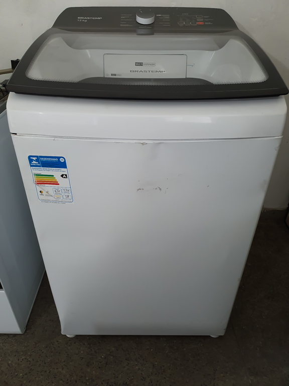 Lavadora de Roupas Brastemp BWK12AB 12Kg - Cesto Inox 12 Programas de Lavagem