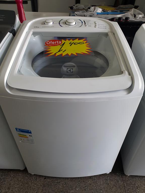 Lavadora de Roupas Electrolux Automática LES15 Essencial Care 15kg  Branca