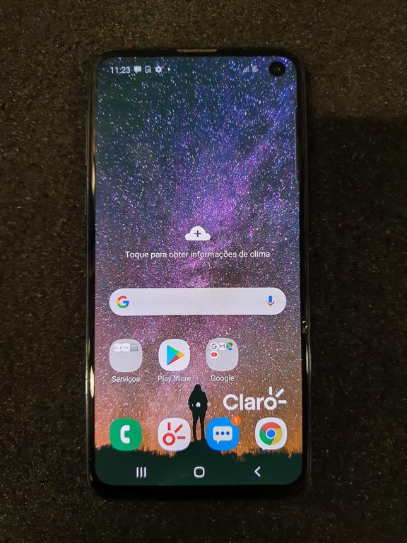 Samsung Galaxy S10E 128gb - Preto - Aparelho com detalhe favor consultar