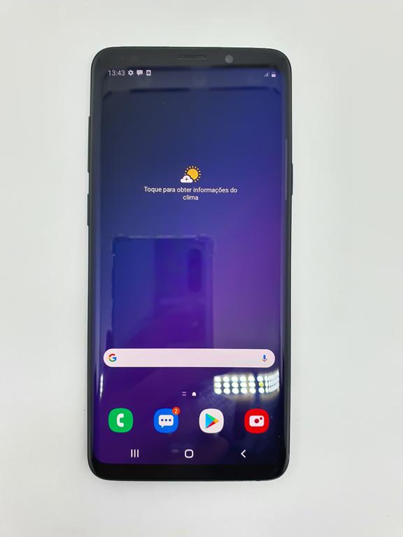 Samsung Galaxy S9 Plus 128gb - Preto - Aparelho com detalhe favor consultar