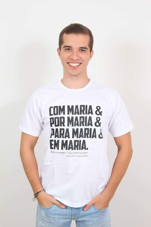 6231f92e97 Camiseta Masculina Frases Religiosas Nossa Senhora Com Maria - Camisetas  Templo Vivo