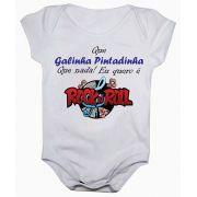 Body de bebê manga curta estampa eu quero é rock in roll