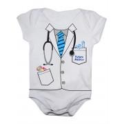 Body De Bebê Manga Curta Estampa Futuro Médico